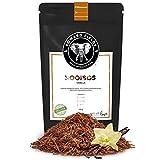 Edward Fields Tea  - Rooibos orgánico a granel con Vainilla. Rooibos bio recolectado a mano con ingredientes y aromas naturales, 100 gramos, Sudáfrica.
