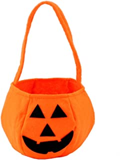 Halloween Bags Pumpkin Candy Holders for Kids Child Play Trick or Treat Snack Basket Bag PTK13