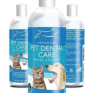 Additif De L'Eau Premium Pour Chiens Et Chats Emmy's Best - Hygiene Dentaire Chien - Réduit La Plaque Dentaire Et Le Tartre - Sans Brossage