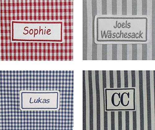Wunschname Stickerei Namensstickerei Name gestickt nur in Verbindung mit Kauf von Wäschesack