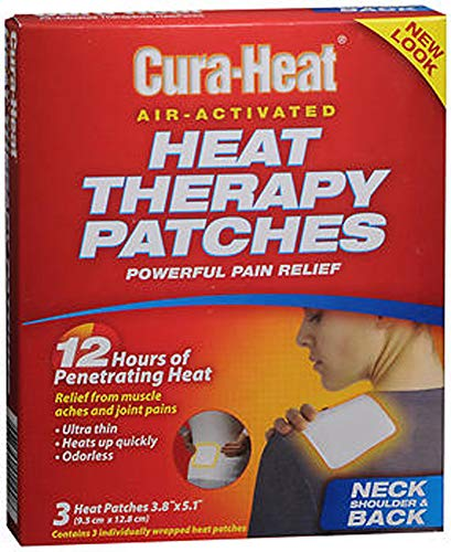 Cura-Heat Heat Therapy Patches for Neck Shoulder & Back - 3 ct, Pack of 3