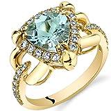 Aquamarine Homage Ring in 14K Yellow Gold (1.50 carat)