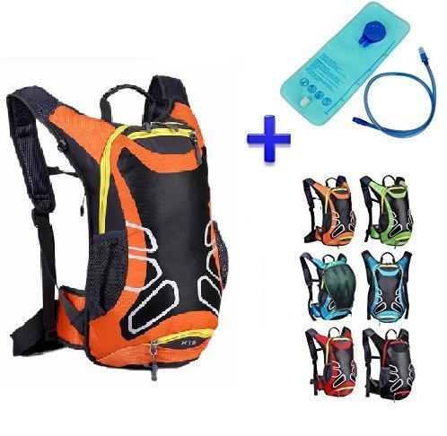 Theoutlettablet® Sac à dos imperméable pour vélo Sac à eau (2L) Sac à dos Capacité 15 litres Montagne - Randonnée - Btt - MTB - Type Camelbak