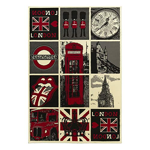 Debonsol - Tapis Salon Patchwork Londres Multicolor 120x170cm