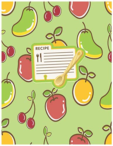 Juice Recipe Book: Juice Fruit Recipe Gift-BLANK RECIPE BOOK,116 pages, 8.5