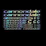HYYT Cannondaleアクセサリーのためのバイクマウンテンバイクサイクリングの装飾的なステッカーMTBレーシングDIYステッカーフレームロードカーデカール (Color Name : Blue)