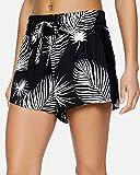 Hurley W Printed Beach Short Shorts, Mujer, Black Palm, XS