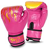 Kids Boxing Gloves, 4oz Boxing Gloves for Kids Boys Girls Junior Youth Toddlers, Training Gloves for Punching Bag, Kickboxing, Muay Thai, MMA, Sparring Age 3-15 Years