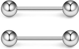 Grade 23 Titanium Internally Threaded Nipple Shield Barbell Ring Bar Body Piercing 16G 14G 2PCS