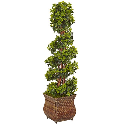 Nearly Natural 4' English Ivy Spiral Artificial Tree, Green
