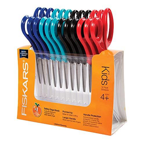 Fiskars 95017197J Blunt-tip Kids Scissors, 5 Inch, 12 Class Pack