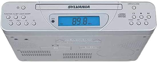 Sylvania SKCR2613 Under Cabinet Kitchen CD Clock Radio with Remote Control (Renewed)