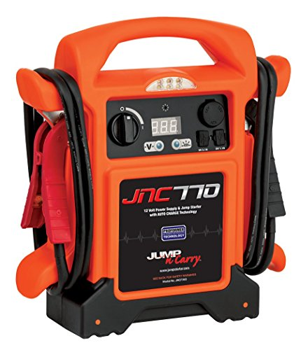Review Clore Automotive Jump-N-Carry JNC770O 1700 Peak Amp Premium 12 Volt Jump Starter - Orange w/C...