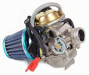 Carburetor & Air Filter for Yerf Dog Spiderbox GY6 125cc 150cc GX150 Go Kart  PD24J + filter