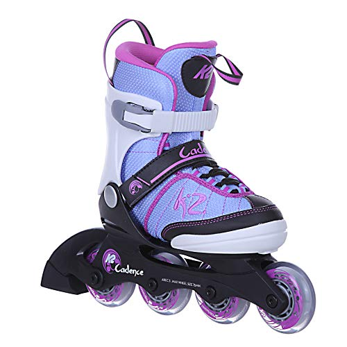 K2 Skates Mädchen Inline Skate Cadence Jr Girl — White - Light Blue - pink — M (EU: 32-37 / UK: 13-4 / US: 1-5) — 30C0350