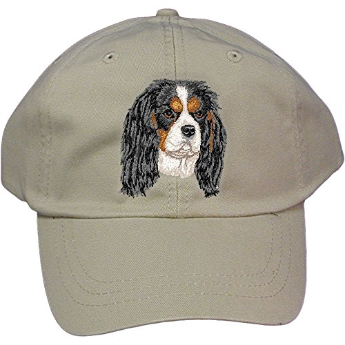 Cherrybrook Dog Breed Embroidered Adams Cotton Twill Caps - Stone - Cavalier King Charles Spaniel