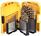 Dewalt Juego de Brocas de Cobalto para Metal (29 Piezas) DT5928-QZ, en Casete índice, Acero inoxidable, Set