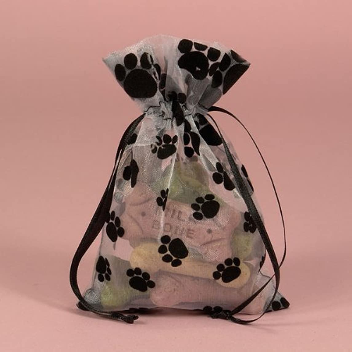 6 Animal Paw Print Dog Party Favors Favor Drawstring Organza Pouch Pouches Bag Bags 3
