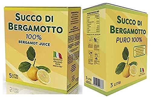 Succo di bergamotto puro set 2 bag da 3 e 5 litri per totali 8 litri