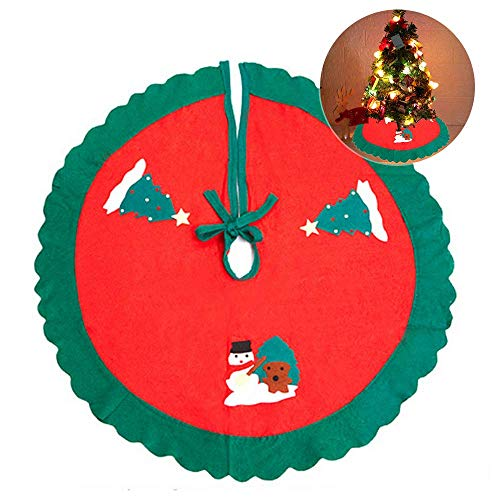 SANBLOGAN Küche Dekorative Weihnachtsbaum Rock, Weihnachtsbaumdecke Christbaumständer, Weihnachtsbaumdecke Christbaumdecke, Christbaumständer Teppich mit Weihnachtsmotiv Schutz vor Tannennadeln 90cm