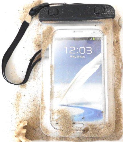 """PRESKIN - Wasserfeste Tasche bis 5.7 Zoll Display, Wasserdichte Smartphone Schutzhülle / Handy Hülle (Beachbag5.7""""Clear) mit Touchscreen Funktion"""