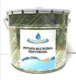 Pittura Ad Acqua Per Piscine - Vernice Smalto Azzurro Per Piscina In Cemento - Resistente Al Cloro (10KG)