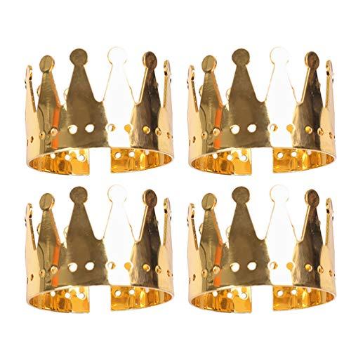 PRETYZOOM 4Pcs Serviettenringe Krone Strass Serviettenringe Serviettenhalter Braut Serviettenringe Schmuck für Weihnachtsferien Abendessen Dekor Gunst