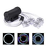 Jhua Speichenreflektoren LED Speichenlicht betrieben mit Batterie Fahrradlicht superhell mit 52 Modi für Fahrrad Speichen Nachtfahrt