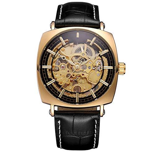 HONGXIGUAN Nieuwe Vierkante Horloge Mannen Automatische Mechanische Horloge Zilver Vintage Man Horloge Mannen Horloge