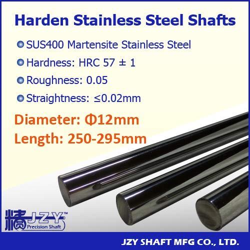 Ochoos Dia 12mm L250-295mm 3pcs lot Super popular specialty store SUS400 Shaft Hardened Rapid rise Stainl
