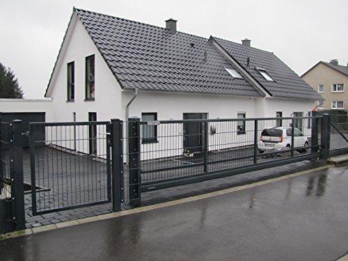 Schiebetor Gittermatte 8/6 3,5x1,45m inkl. Elektroantrieb