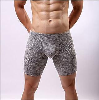 LnLyin Spandex Underwear Underwear Boxer Shorts U - Bolso Interior para Hombre, Color Gris Mediano, XL