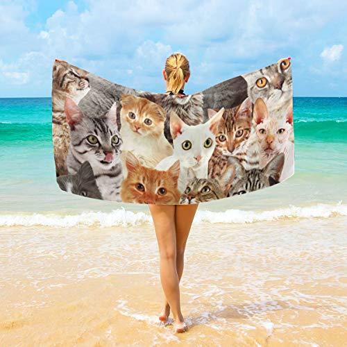 All Sorties of Lovely Cats Serviette de bain absorbante douce pour bébé