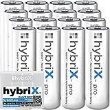 kraftmax 16er Pack hybriX pro Set - 16x Mignon AA Hybrid Akkus in Box - Die Neue Generation von Hybrid Akku Batterien