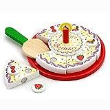 viga- new classic giocattoli-0592-imitazione di gioco-corsi di cucina-torta di compleanno-per tagliare, 58499