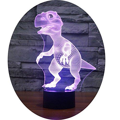 3D Illusion Nuit Lumière Win-Y LED Bureau Table Lampe 7 Couleur Tactile Lampe Maison Chambre Bureau Décor pour Enfants D'anniversaire De Noël Cadeau (dinosaure)