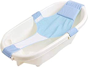 eujiancai Baby Bath Seat Non-Slip Newborn Baby Bathtub Seat, Adjustable Versatile Newborn Baby Bath Seat Support Net Bathtub Sling Shower Mesh Bathing Cradle Rings for Tub, Keep Baby Safe (Light Blue)