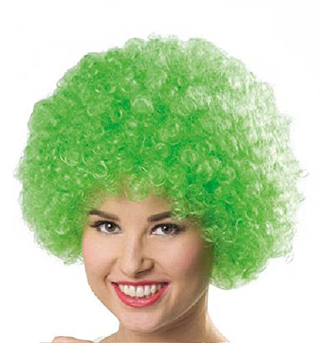 Folat 26776 – Perruque Afro, One Size, Vert