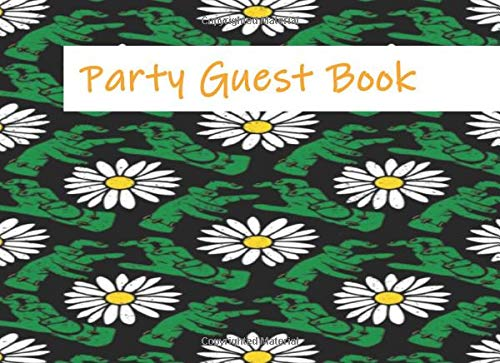 Party Guest Book: Frankenstein Hands and Flowers Halloween Themed Party | Wedding Event Guest Book