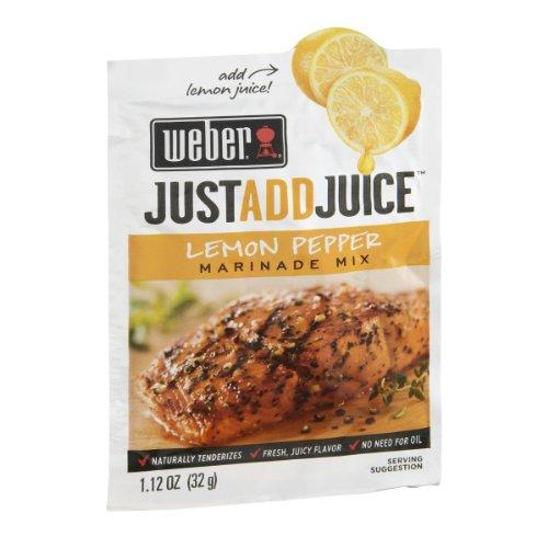 Weber Just Add Juice Marinade Mix Lemon Pepper