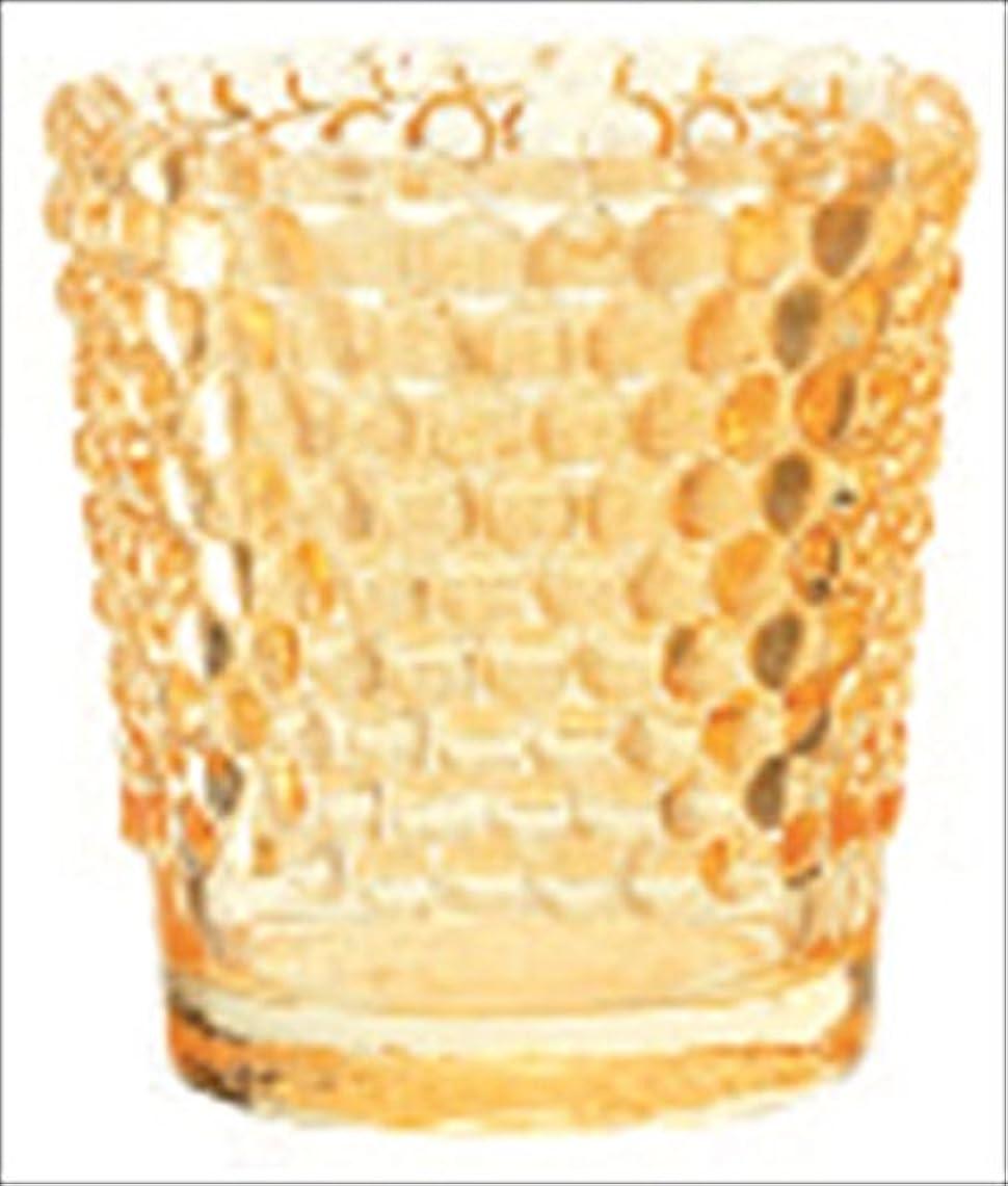 美人接辞一回カメヤマキャンドル( kameyama candle ) ホビネルグラス 「 アンバー 」
