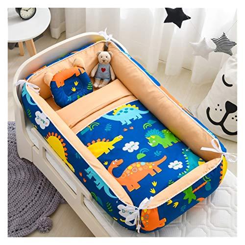 Witou Cama de Nido de Dormir de bebé con Almohada Cuna antiestrés portátil de la Cuna para bebés Cuna de algodón de algodón de bebé, Silla de balanceo (Color : H)