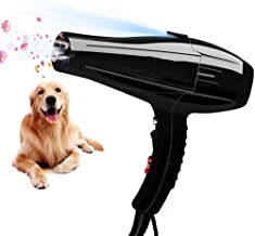 Pet Dog Hair Dryers Professional Pet Grooming Hair, Low Noise Blaster Dryer for Large And Small Pets(Super Cyclone),Black