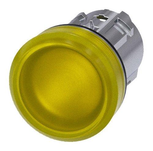 Siemens SIRIUS ATC lamp rond metaal/signage-glanzend gele lens glad