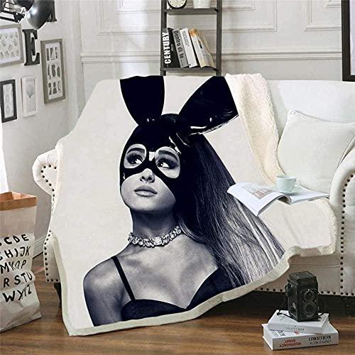 SMNVCKJ Ariana Grande - Manta de forro polar, manta fina para sofá, ultrasuave y cálida, microfibra 3D, para adultos y niños (15,100 × 140 cm)