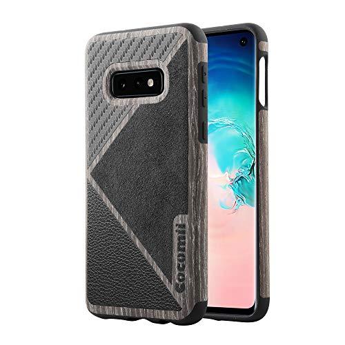 Cocomii Alcantara Carbon Fiber Leather Wood Galaxy S10e Case, Slim Thin 4 Luxury Materials in 1 Case Hard Plastic & Soft TPU Silicone Bumper Cover Compatible with Samsung Galaxy S10e (Black)