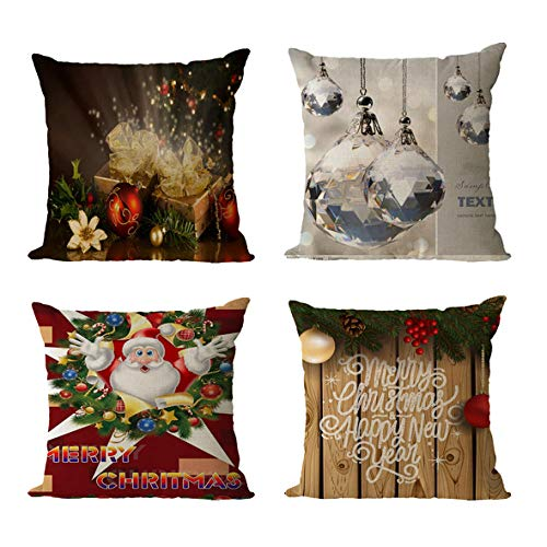 GenericBrands Cushion Covers Cushion Covers Pillow covers Invisible Zipper Cushion Protectors Pillowcase for Car indoor Home Decorative 45 x 45 cm Set of 4