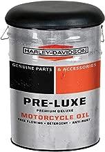 HARLEY-DAVIDSON Pre-Luxe Genuine Bucket Stool, Steel Barrel, 13 gal. HDL-12137