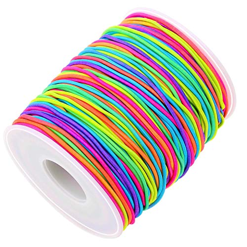String for Bead Bracelets, Selizo Bracelet String for Beads, Elastic Bands for Sewing, Elastic Jewelry Making Cord for Masks, Beading, Jewelry Making and Braided Hair Styling