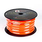 Bully Performance Audio BL-PC00CCA-25FT | 2/0 00 Gauge Orange Flexible CCA 25ft Power/Ground Wire | 00 Gauge Copper Clad Aluminum Cables Battery Wire Cable Kit